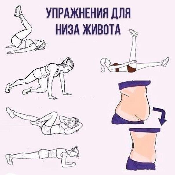 Упражнения для низа живота в домашних условиях