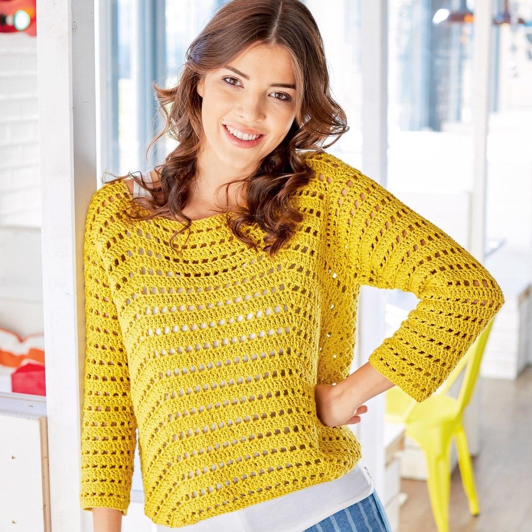 Пуловеры, свитера и джемпера крючком 35
