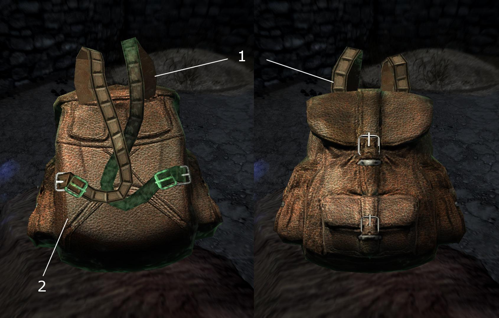рюкзак после установки ретекстура