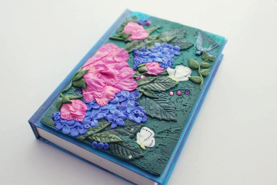 Открытка с полимерной глиной, новогодние открытки скрапбукинг
